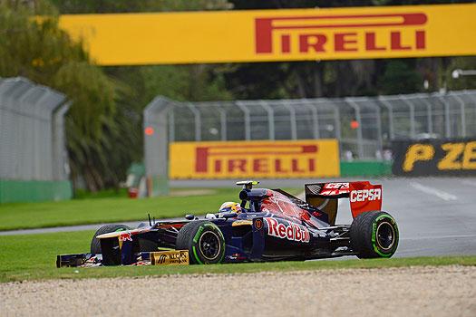 Pirelli tyres on Torro Rosso