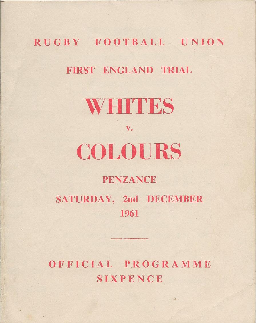 England trial programme 1961