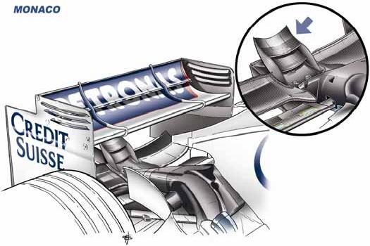 Draw Monaco GP rear wing
