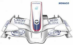 Draw Monaco GP front wing2