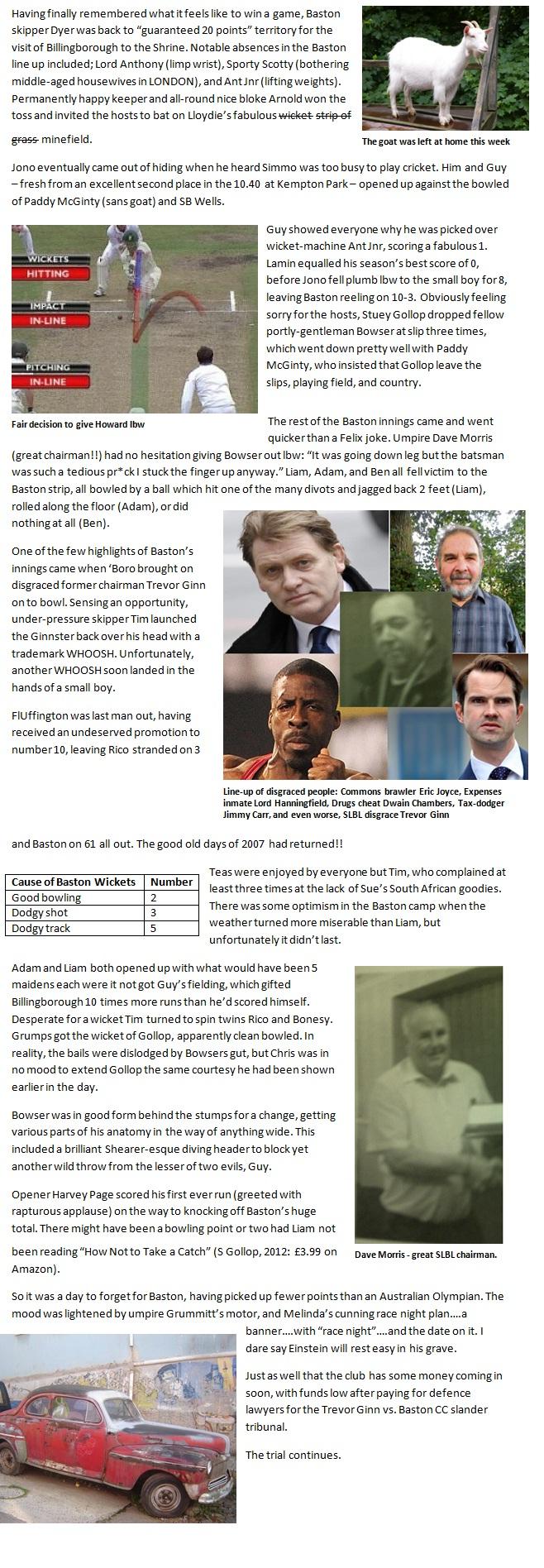 Billingborough Report