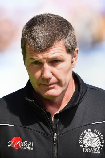 Exeter Chiefs head coach Rob Baxter before the Aviva Premiership match at The Ricoh Arena, Coventry.