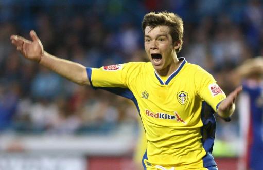 Leeds Uniteds Johnathan Howson celebrates after scoring the winning goal against Carlisle during the