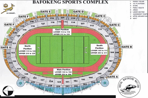 Bafokeng Sports Stadium Seating
