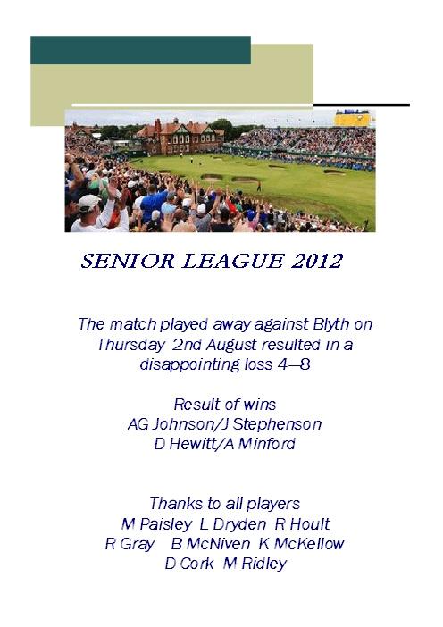 Seniors Match 2/8/12