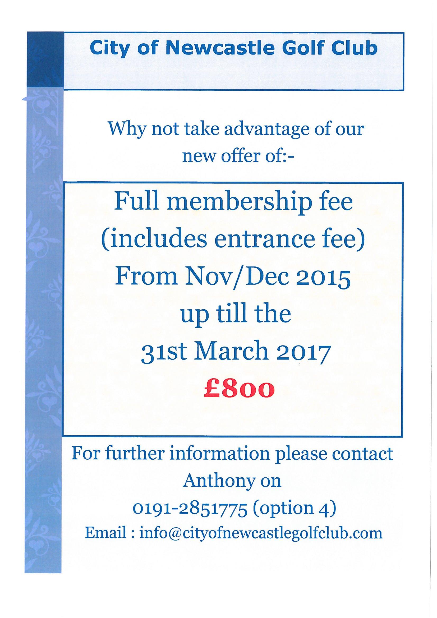new membership deal 2015