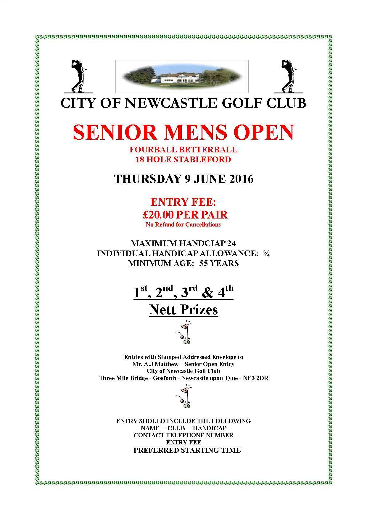 Seniors Open 2016